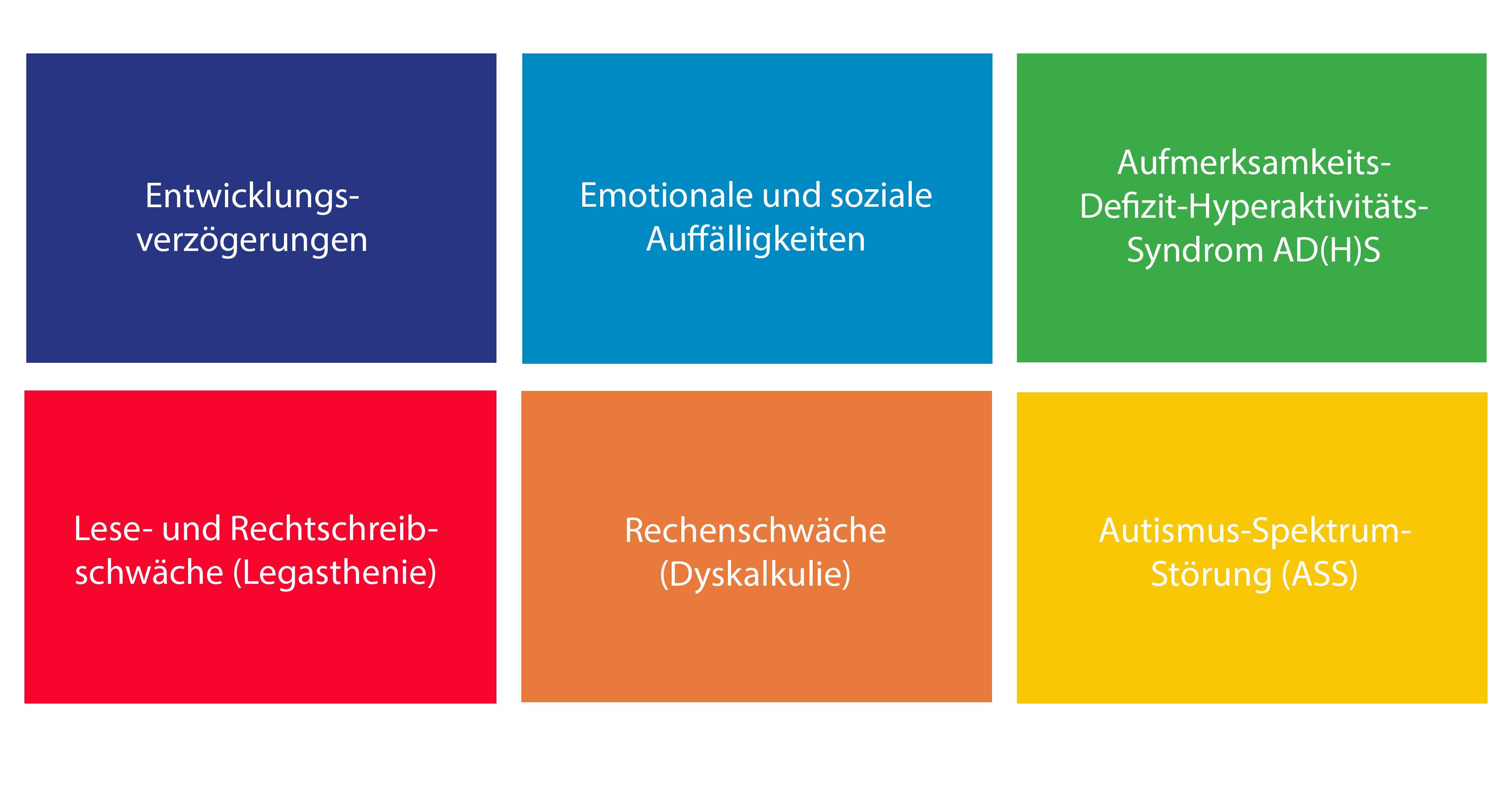 Schwerpunkte Klinisch psychologische Diagnostik